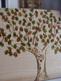 árbol de huellas imprimible