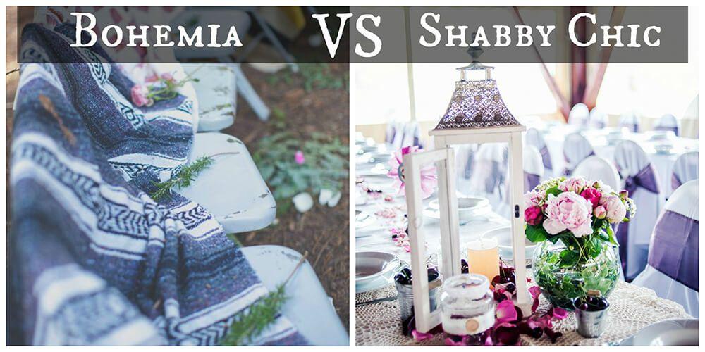 Bodas bohemias & Boda Shabby Chic