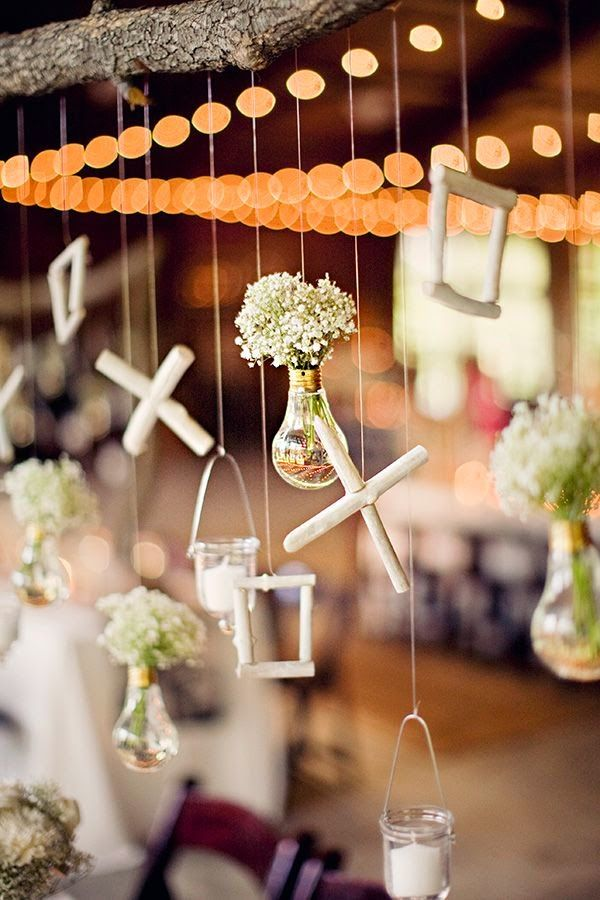 bombillas decoración boda