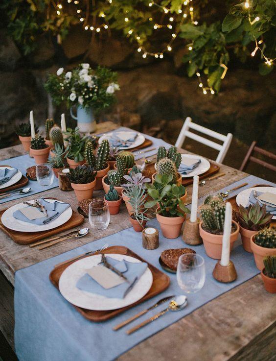 cactus decoracion boda