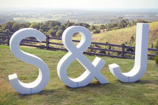 letras de corcho para boda