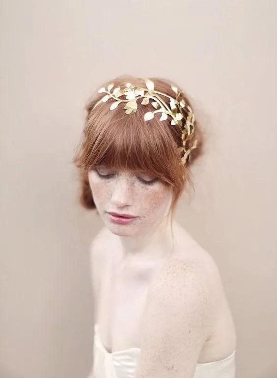 Peinado novia con flequillo despeinado