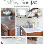 Diy Cheap Countertops With Contact Paper My Wee Abode