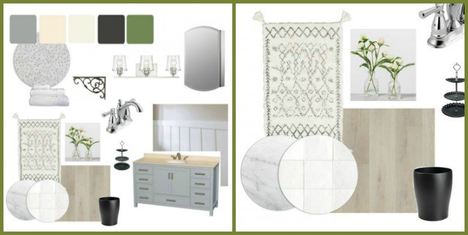 tuesday turn about ORC reveals photo of bathroom mood board