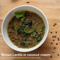Dal anyday.... Brown lentils in coconut cream