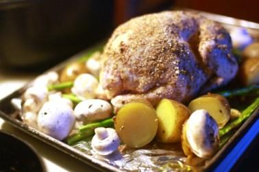 shiitake chicken - with crust