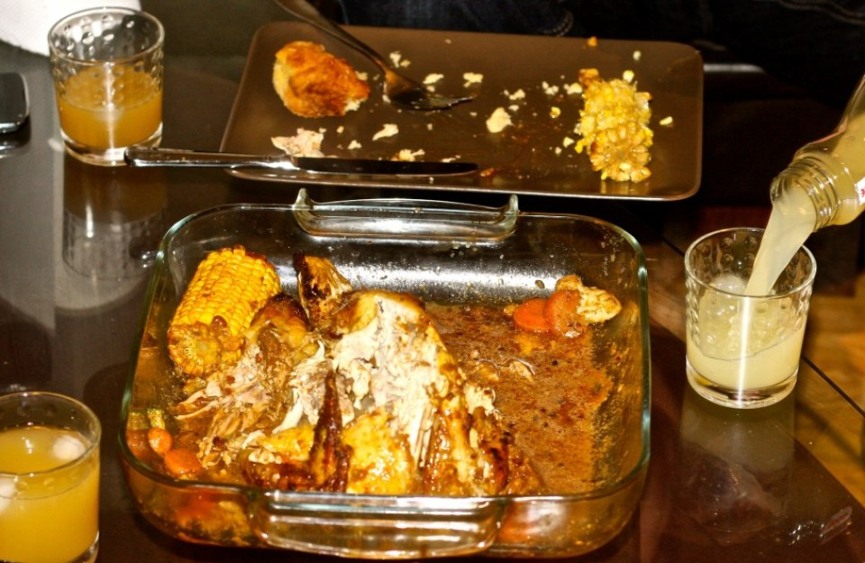 Roast Guinea Fowl with Yam Balls