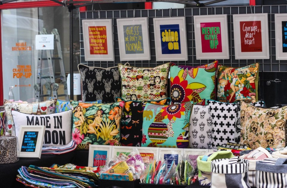 "the ""Fashion Market"" at Portobello Road market"