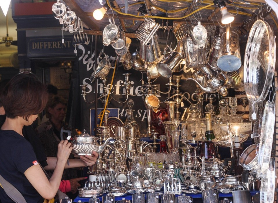 Antiques at the Portobello Road Market
