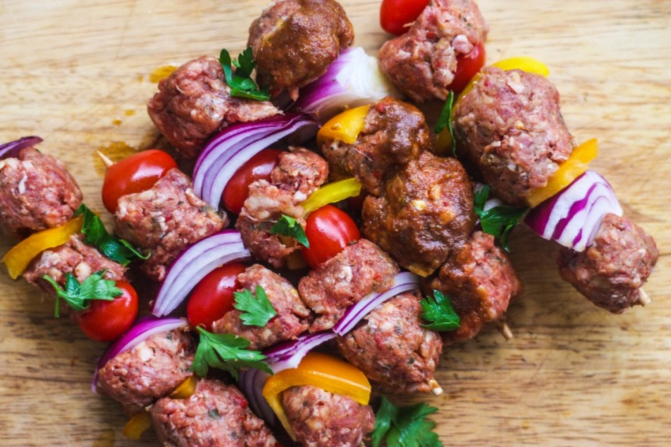 Making Suya Minced Beef Kebab