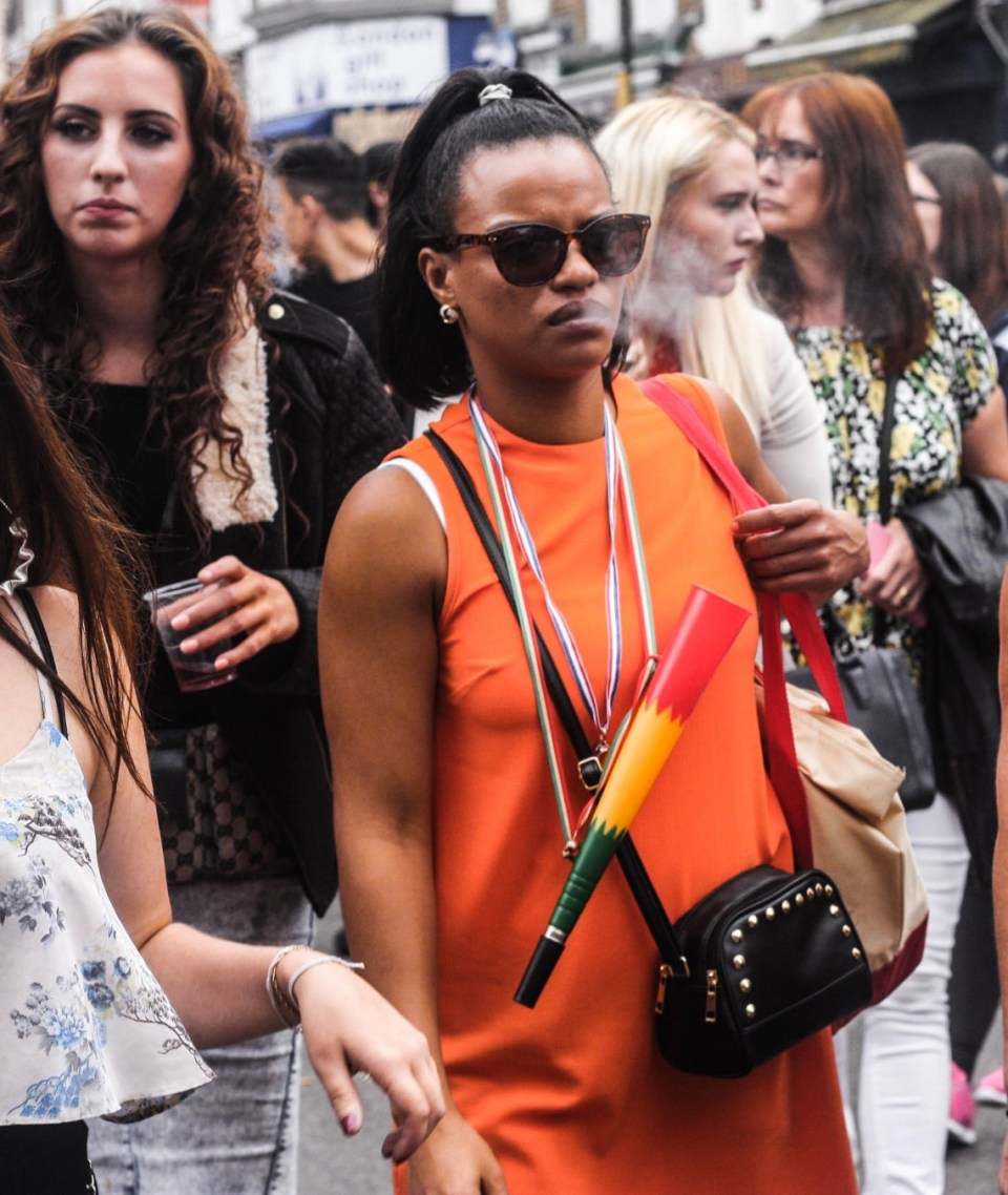 Notting Hill Carnival revellers in pictures