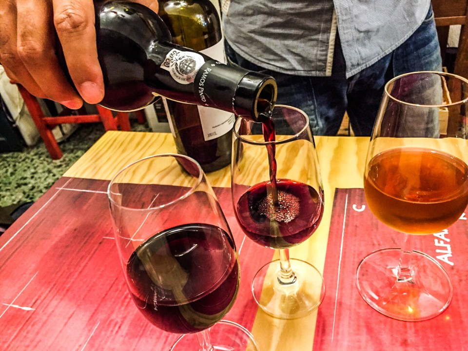 Port wine tasting in Alfama, Lisbon
