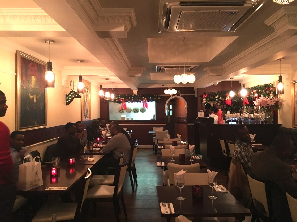 An evening at the 805 Restaurant in Hendon, London.