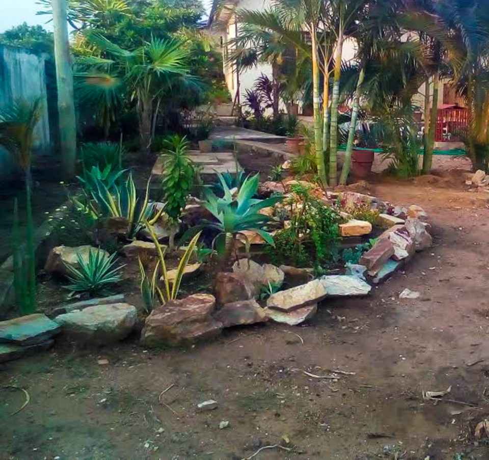 MyWeku Restaurant: The making of the rock garden