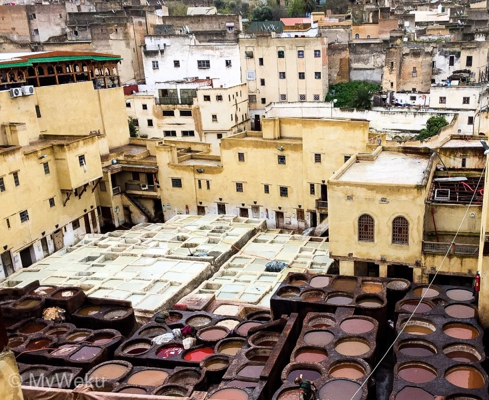 The Chaouwara Tanneries in Fez, Morocco