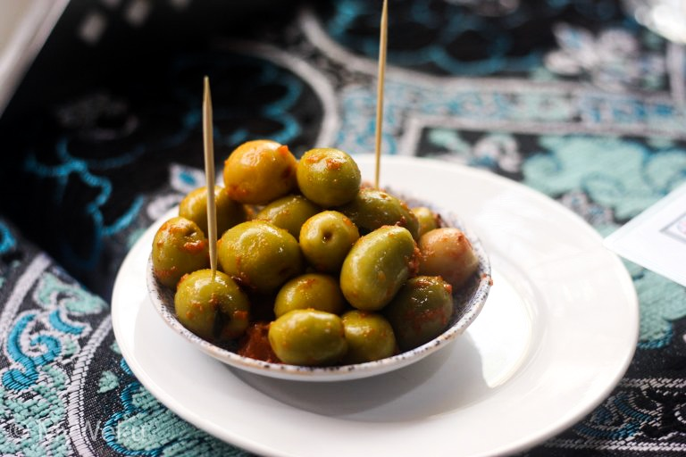 Olives, the star of the show at the medina in Fez