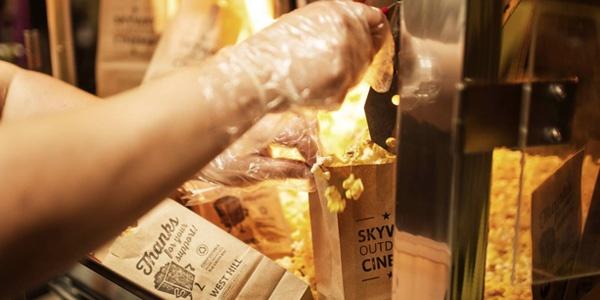 Skyway Outdoor Cinema's Famous 50¢ Popcorn