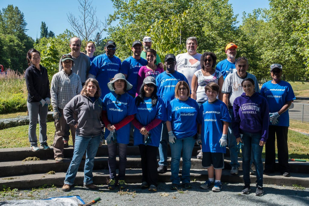 West Hill Action Mob (WHAM) Work Party volunteers in Skyway Park, June 20 2015