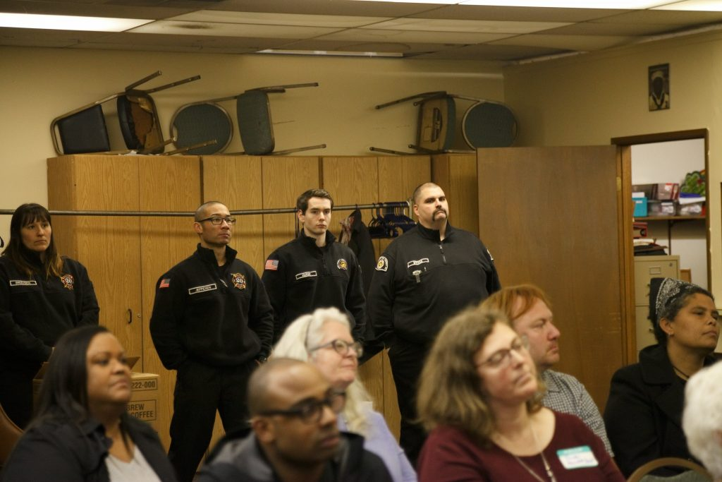 King County Fire District 20 (KCFD20) firefighters attend Skyway VFW Post #9430 on January 15th, 2019 for WHCA's Winter Quarterly Community Meeting.