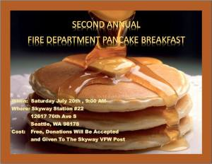 Fire Station Pancake Breakfast @ King County Fire District 20 | Seattle | Washington | United States