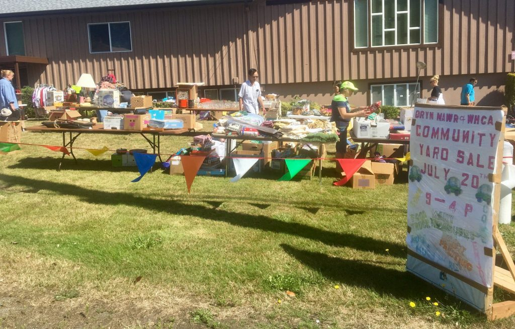 Bryn Mawr UMC Tables at West Hill Community Yard Sale