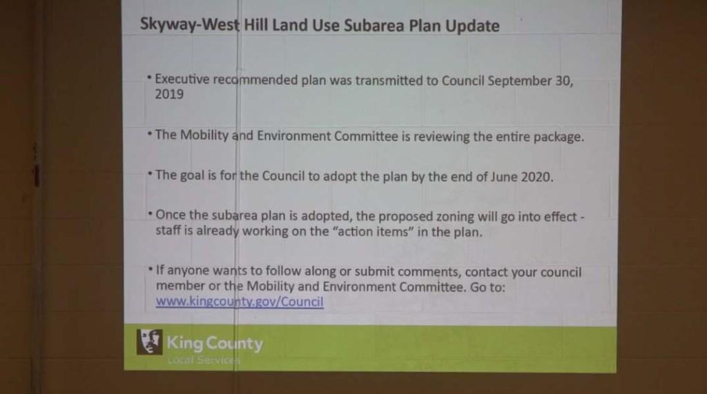 Skyway-West Hill Subarea Plan update