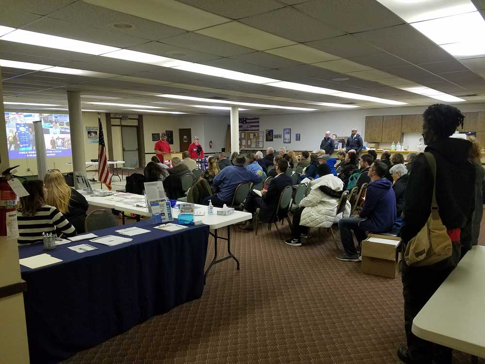 WHCA Winter Quarterly Meeting 2020 Audience at Skyway VFW 2020-01-21