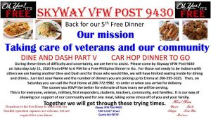 Dine & Dash: 5 @ Skyway VFW | Seattle | Washington | United States