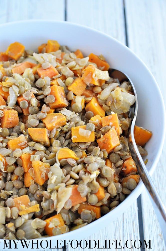 Sweet Potatoes Lentils Sage