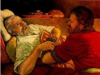 Isaac blesses Jacob