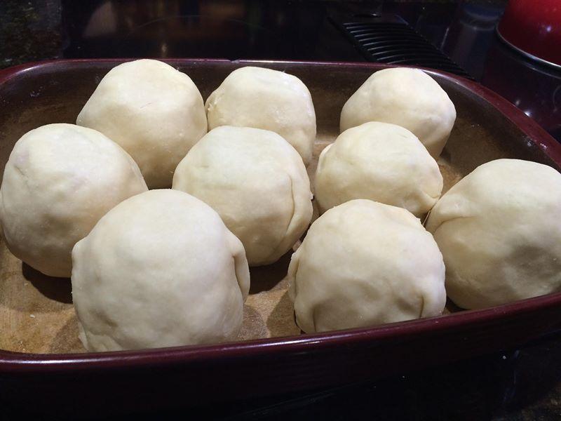 apple dumplings in pan 2
