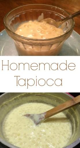 Pinterest homemade tapioca