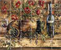 Tuscan Kitchen Tile Art