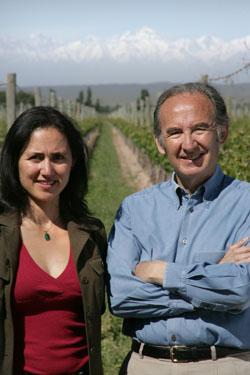 Nicolas Catena and his daughter Laura