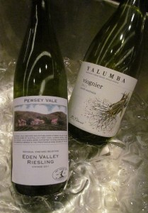 Pewsey Vale Riesling and Yalumba Viognier