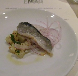 Smoked herring with potato salad