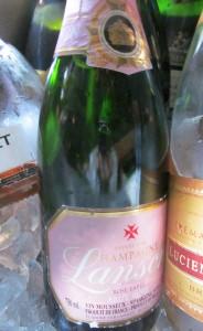 Lanson rose champagne