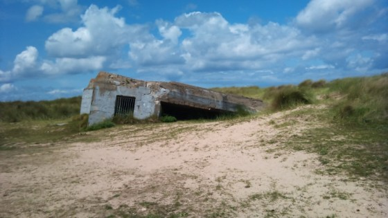 A German concrete bunker in Normandy