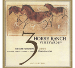 3 Horse Ranch wine label