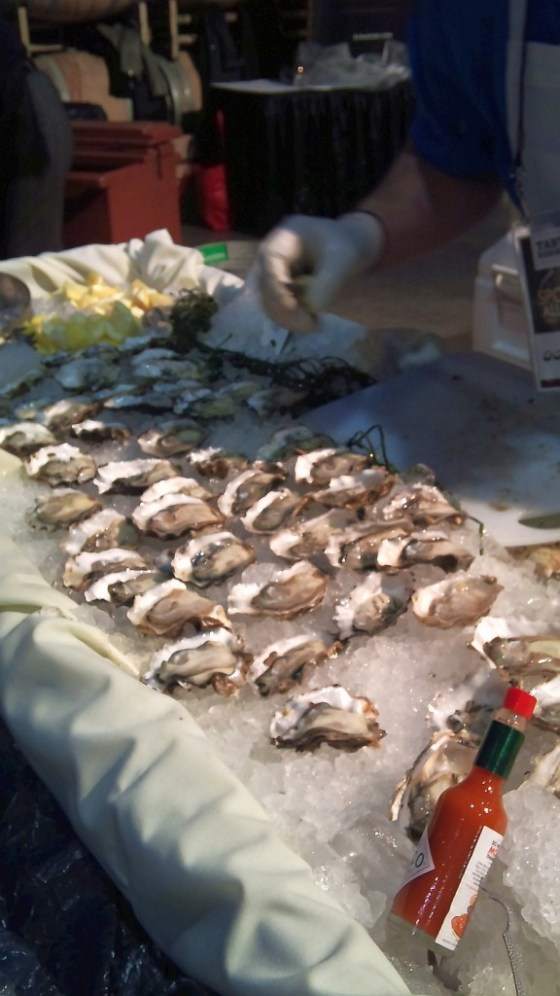 Oysters on the half shell to enjoy