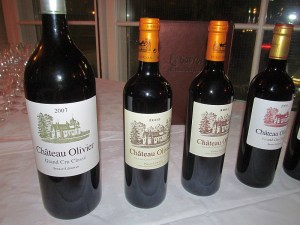 Chateau Olivier Bordeaux flight