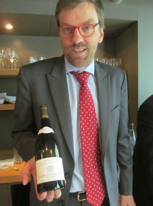 Jean-Jacques Moreau with his Grand Cru Valmur 2008