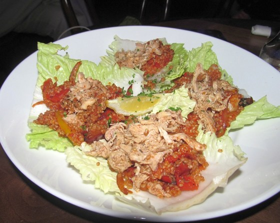 Jambalaya quinoa lettuce wrap