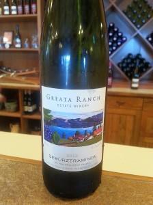 Greata Ranch Gewurztraminer 2012