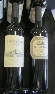 Catena Alta Malbec 2010 and El Enemigo Malbec 2009