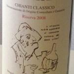 Caparsino Chianti Classico Riserva 2008 label