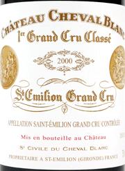 Chateau Cheval Blanc Label 2000