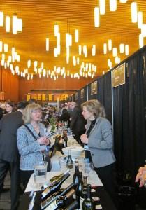 People at the Vancouver International Wine Festival tasting room