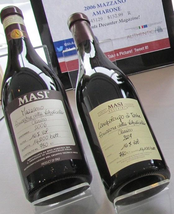 Masi Amarone della Valpolicella Mazzano 06 and Campolongo di Torbe 07