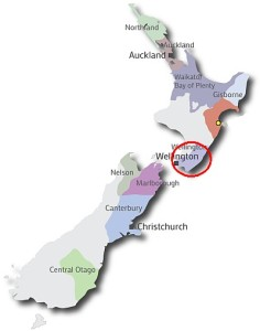 New Zealand map - Wairarapa